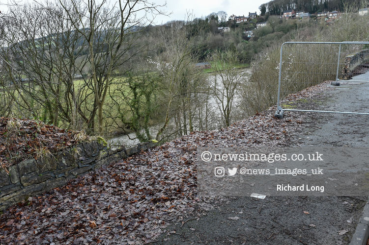 Site of a landslip in Newbridge just outside Wrexham   #StormChristoph #wednesdaythought #weather #FloodAlerts #newsimages @ritchie9710