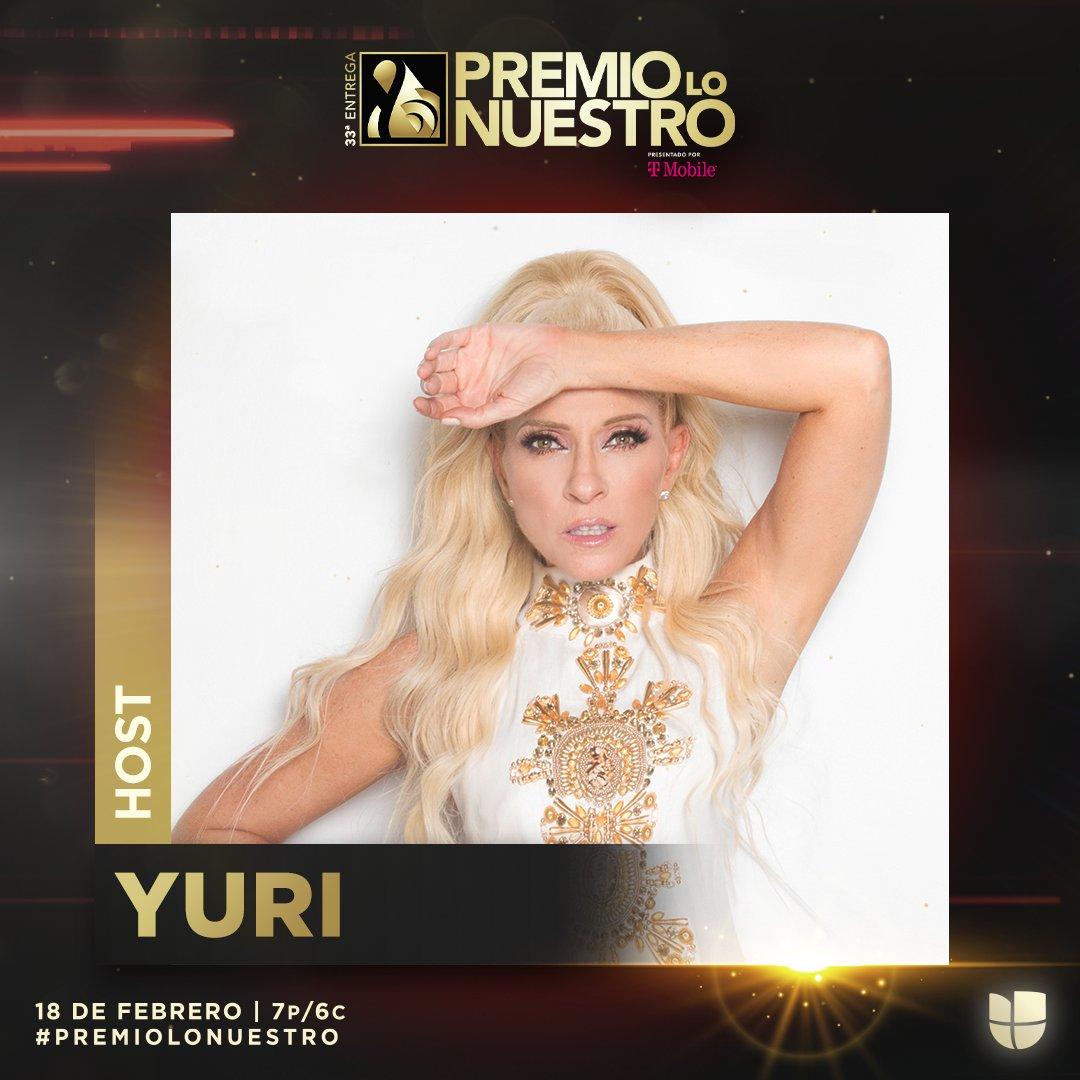 ¡La cantante mexicana @OficialYuri se une a un equipo fuertísimo que dirigirá una noche llena de celebraciones, nuestra música y nuestros artistas! 🇲🇽 #PremioLoNuestro