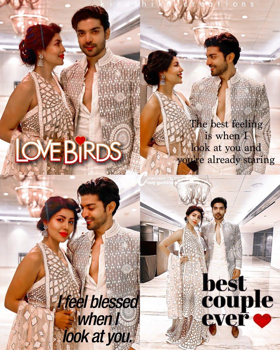 My Love birds are lost in eachother ❤️❤️😍 @gurruchoudhary @imdebina #Gurmeetchoudhary #Debinabonnerjee #GurBina #couplegoals #madeforeachother https://t.co/NEqf6U9W54