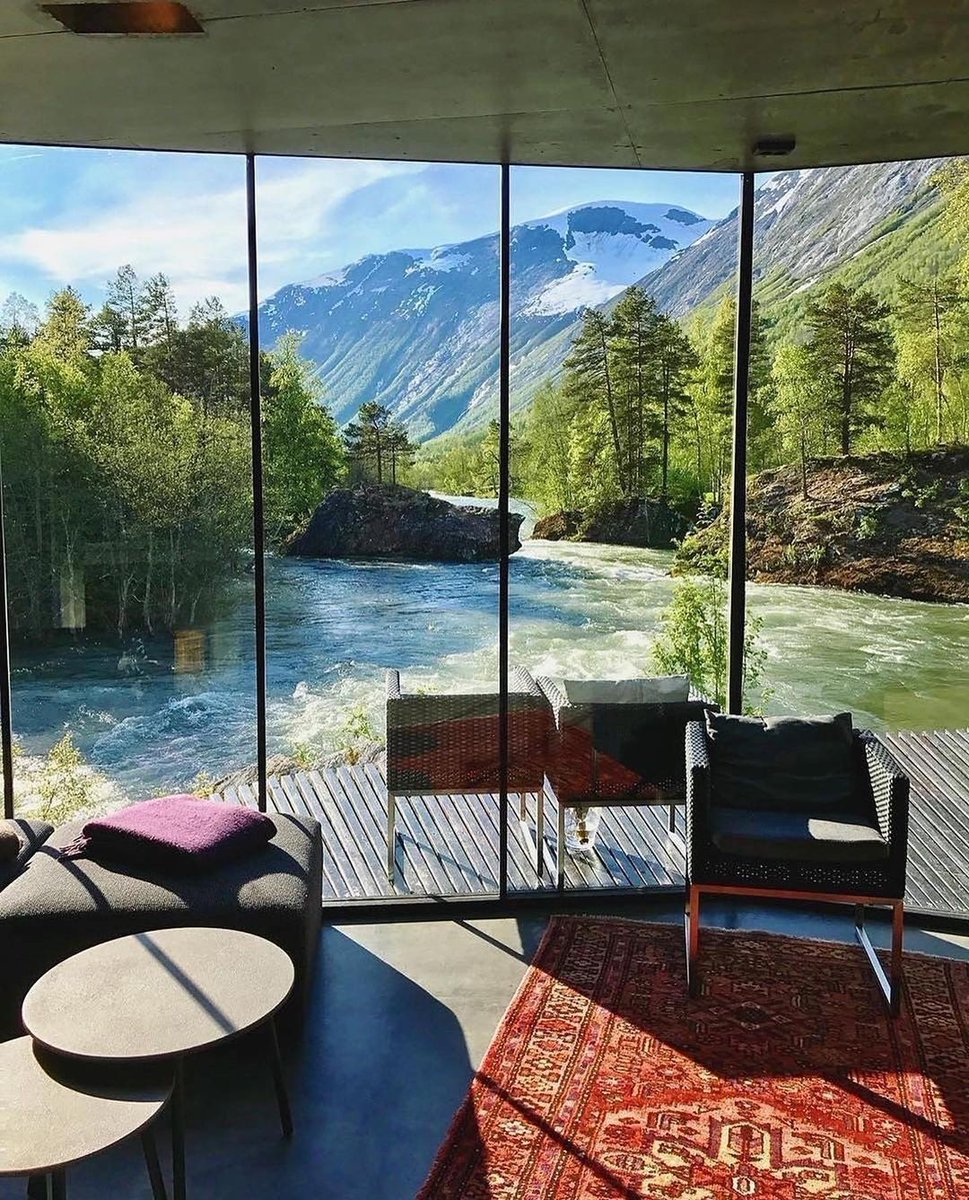Dreamy riverside getaway 😍 Who'd you stay here with?📍Valdall, Norway. ⠀ Photos by @shmakegodt  #fridaymorning #FridayMotivation  #FridayThoughts #OnlineExamOrWeProtest #BiasedAzmatSaeedRejected  #JusticeForStudents #nature  #Mステ #エヴァ破 #ImpeachBidenNow