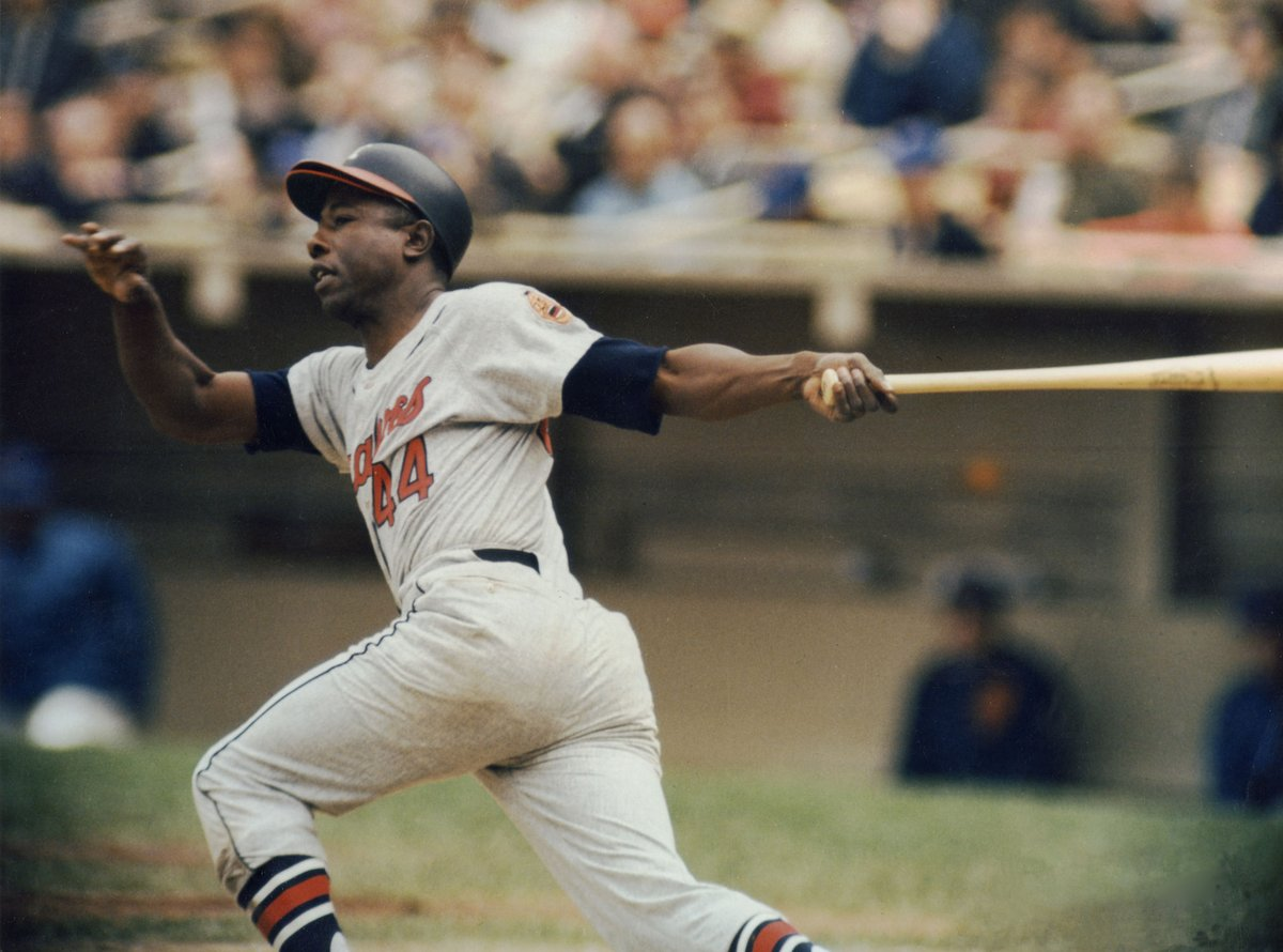 """Muhammad Ali once called Hank Aaron """"The only man I idolize more than myself."""""""