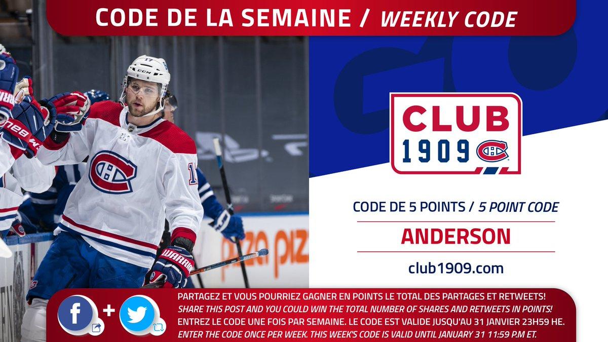 👇 Le code Club 1909 de la semaine   ANDERSON   👆 The Club 1909 code of the week