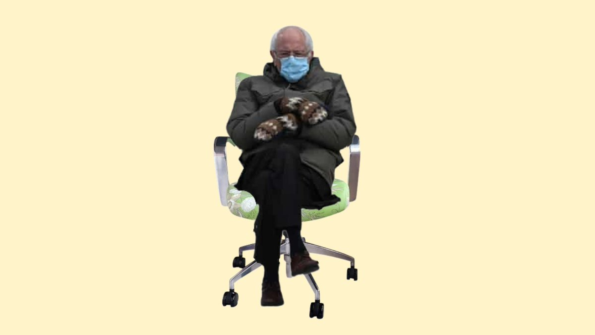 #BernieSanders loves our office chairs! #BernieSandersMittens #Berniememes #berniesmittens  #officechairs #deskchairs #fridaymorning #FridayThoughts