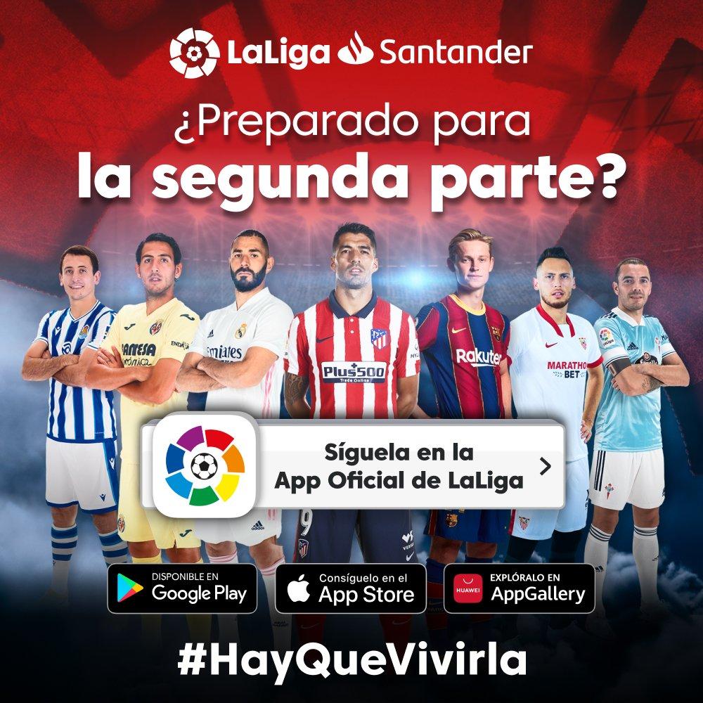 🔥⚽ ¡#LaLigaSantander es apasionante!  📲 Síguela desde tu móvil con la App Oficial:   #HayQueVivirla