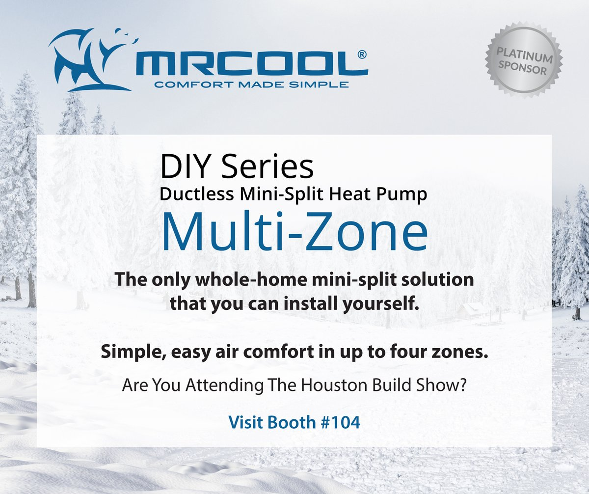 MRCOOL @MRCOOLcomfort Introduces the DIY Ductless Mini-Splits, get all details at the Houston Build Expo, June 9 & 10 at the NRG Convention Center in Booth#104. Learn more at  #comfort #DIY #Ductless #Cool