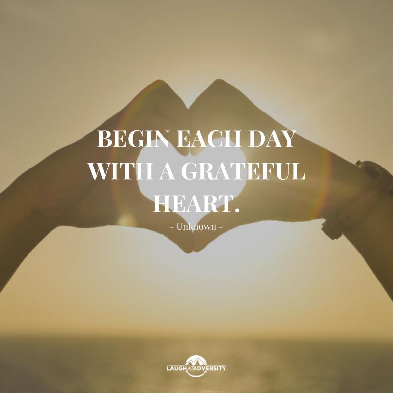 Begin each day with a grateful heart. #FridayFeeling #FridayThoughts #Grateful #Heart