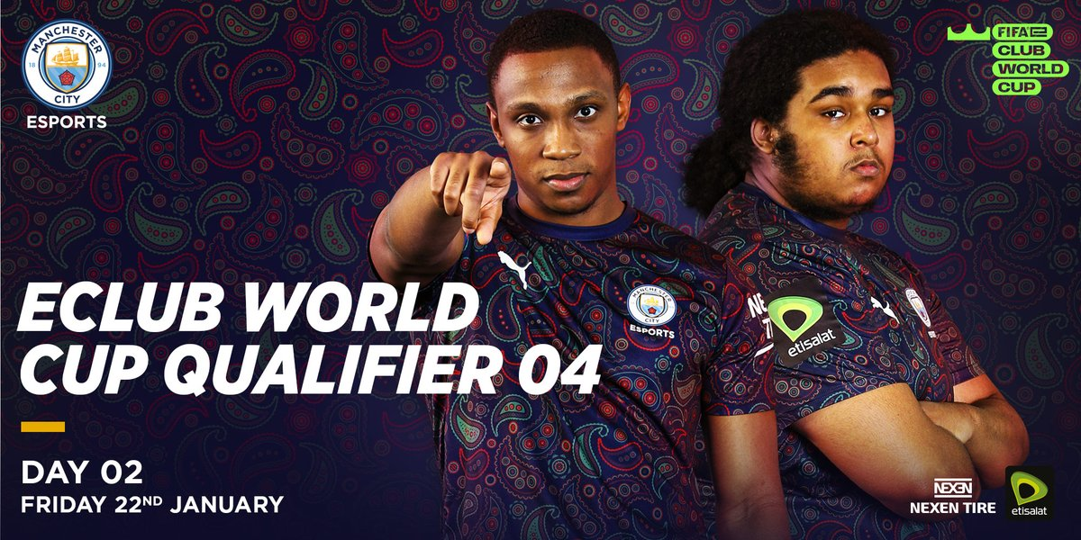 After a storming day yesterday our @ManCity boys @ryanpessoa_ and @Shellzz have already 🔒 a @FIFAe Club World Cup playoff spot!! 👏 Follow their results in this weeks qualifier Final against either @aabsportdk 🇩🇰 or @EsportsHexon 🇮🇹 at 9.30pm! ➡️fifa.gg/fifae-club-wor… 🌎