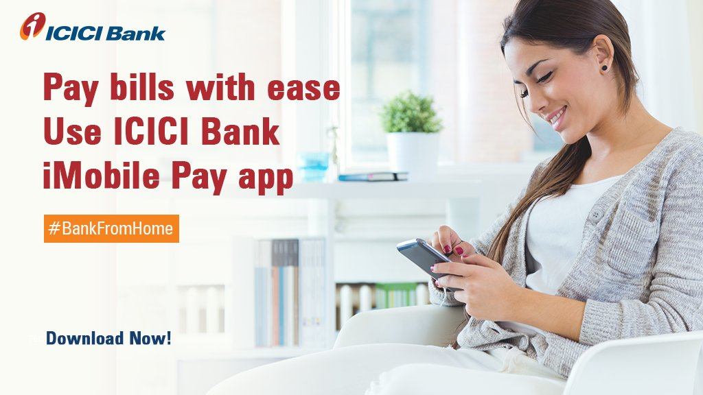 With the ICICI Bank iMobile Pay app, both ICICI Bank customers and non-customers can now pay bills from anywhere, anytime effortlessly by simply clicking a few buttons.    Experience convenience at your fingertips. Download the app today:    #BankFromHome