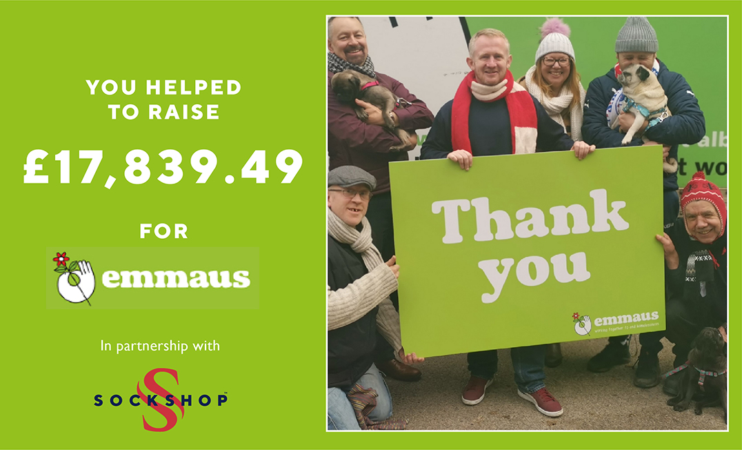 We are delighted to announce that the proceeds from the sales of our 2020 Advent Calendars raised £17,839.49 for @EmmausUK!     Thank you so much to everybody who helped to raise this incredible amount!   Read more on The SOCKSHOP Blog https://t.co/p71qLcUBbW https://t.co/sm1Odt1DQb