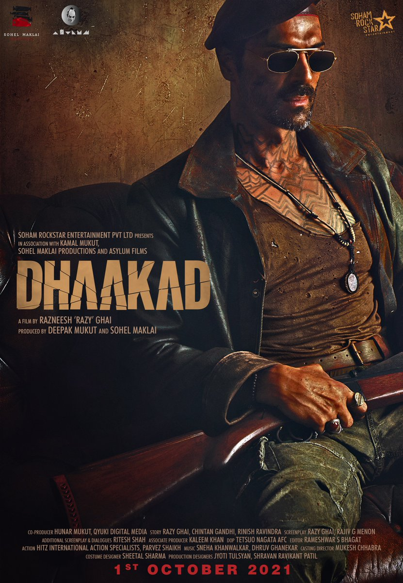 Presenting, the #Dhaakad gang! They are rowdy. They are fierce. They are fearless.  All those who are excited to watch 'em in action, comment '👊' below.  #PVRUpdates @RazyGhai @KanganaTeam @rampalarjun @divyadutta25 @DhaakadTheMovie
