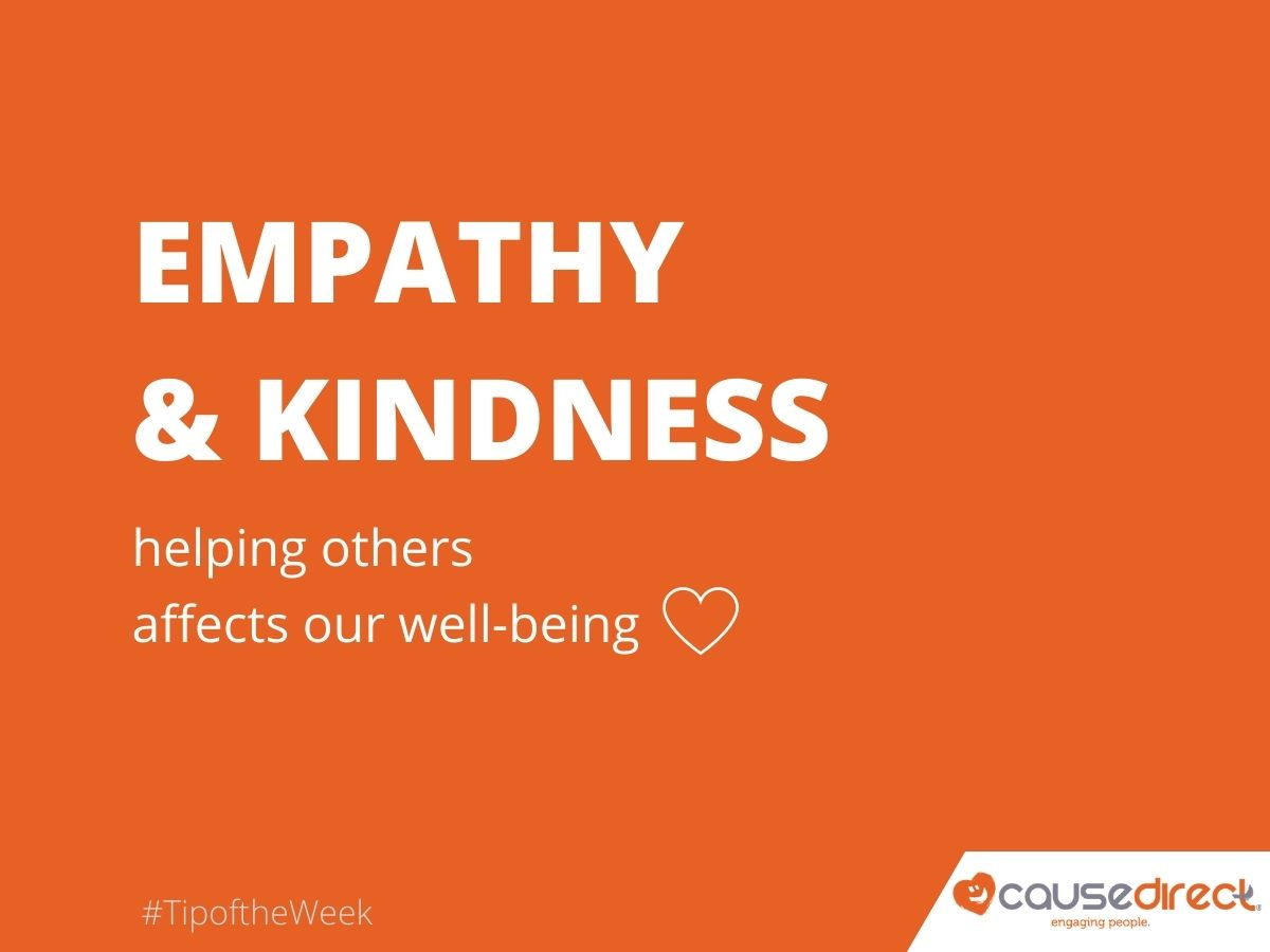 #TipoftheWeek: Develop a #workculture of empathy and kindness. Research has shown that the simple act of helping someone affects our well-being  #EngagingPeople #Volunteer #EmployeeEngagement #Purpose #HR