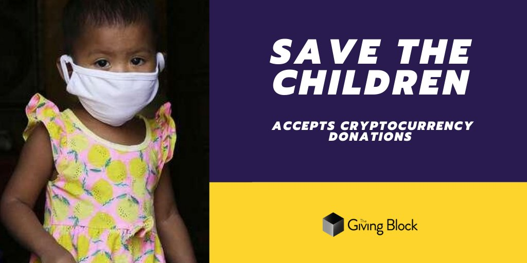 Nonprofit Highlight: @SavetheChildren ensuring children are cared for around the world, accepts #cryptocurrency donations like #Bitcoin via @TheGivingBlock Donate crypto and reduce your tax burden here: