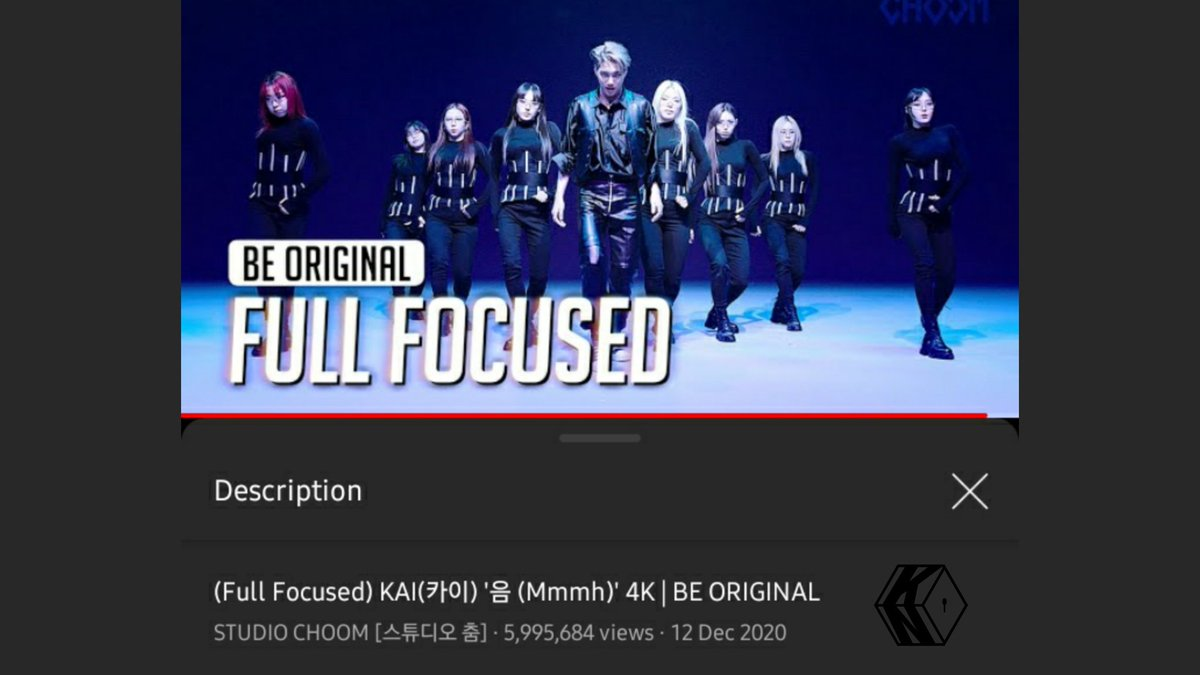 [STREAM] Kai's Full Focused Mmmh cam from Studio Choom has surpassed 5,995,000 views on YouTube. 🔥  🔜 6M views  🔗  #KAI #카이 #엑소카이