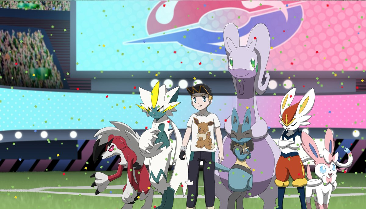 Pokémon Commission: The new champion! #Pokemon25