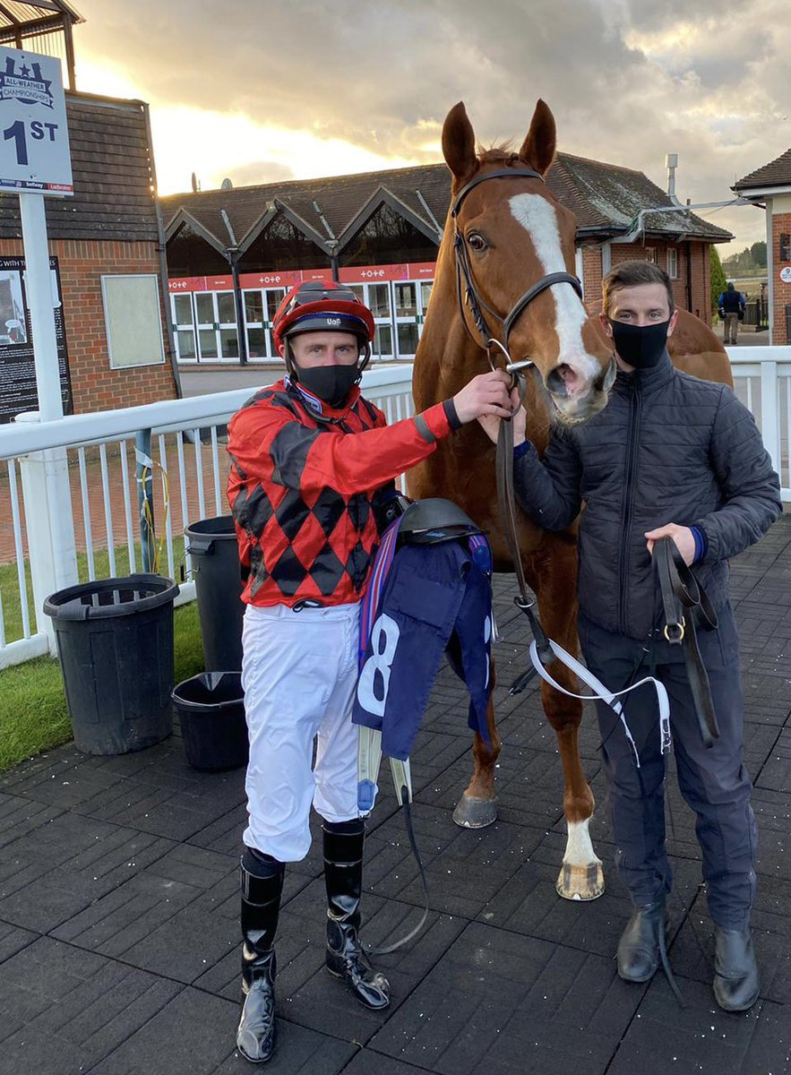"What a brave display by ""Society Red "" at Lingfield. Really well done to owner Martin MacLeod. Enjoy"