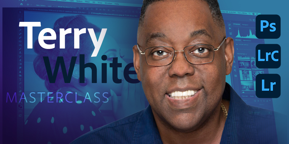 LIVE NOW: Learn how to masterfully retouch photo with @terrywhite! Terry will share retouching tips and techniques for photographers to make their portraiture look even better.