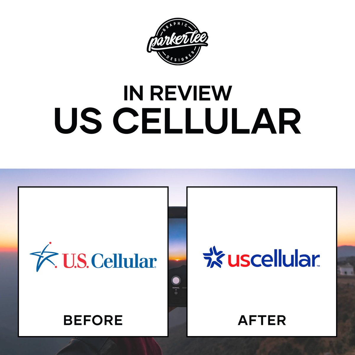 Welcome to Logo Week, a deep dive into the latest logos. What do you think of US Cellular's new logo? . . . . . . . . . . #Logo #Rebrand #BeforeAndAfter #Logotype #Logomark #Typography #Design #GraphicDesign #Marketing #Creative #Media #New #Follow #USCellular #iPhone #Android