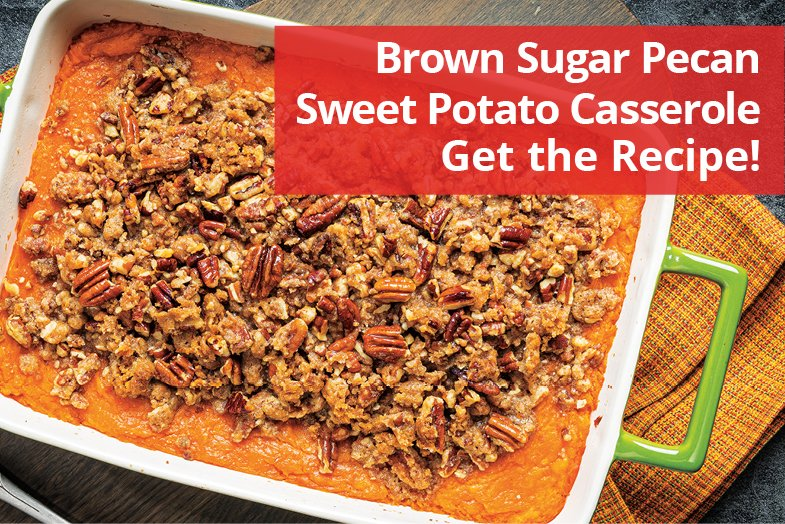 Your family will ask for our Brown Sugar Pecan Sweet Potato Casserole every night! 🍽 🍴 Get the recipe ➡ bit.ly/397VDxF #BrookshireBrothers #InstaYum #Recipe #CookAtHome