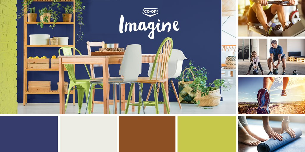Introducing our January Paint Palette of the Month. Energetic colours, inspired by fitness. What inspires you?  . #painting #WetaskiwinCoop #paint #love #design #fitness