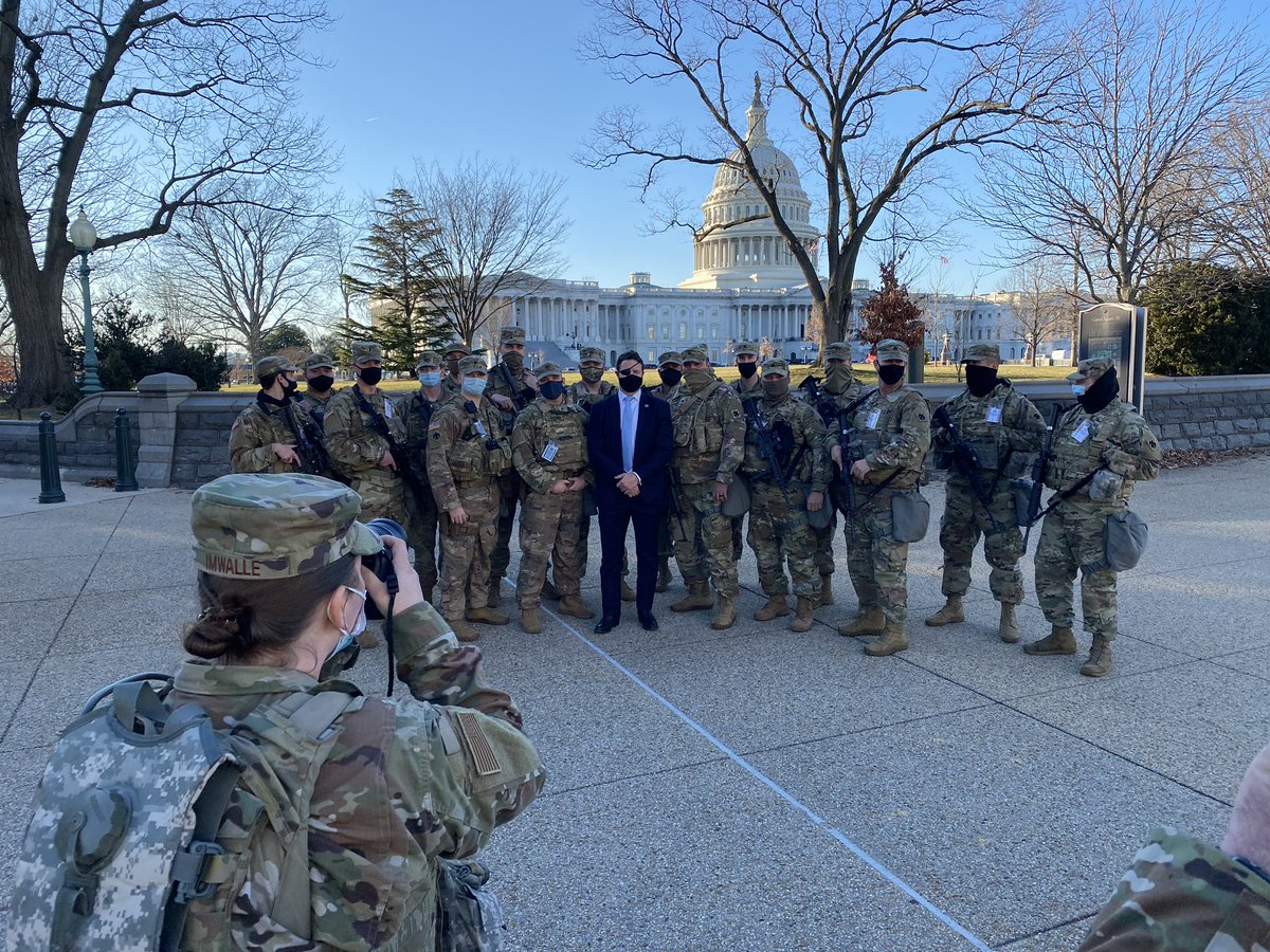 Great hanging with these Guardsmen. Turns out many of us were in Afghanistan at the same time. Appreciate all of you being up in DC these past couple weeks.  Now an update...  THREAD
