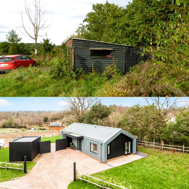 We think this is one of the most stunning transformations we've seen recently... working with Cubed Projects to turn old farm buildings into a brand new 2 bed bungalow. . . . .  #architecture #design #home #building #construction #planning  #kentarchitects #homeinspiration #RIBA
