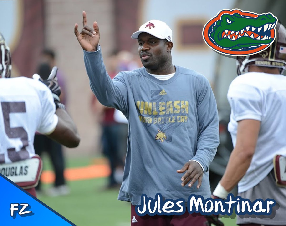 Former South Florida Cornerback Coach/Recruiting Coordinator, Jules Montinar, will be joining the Florida Gators coaching staff.