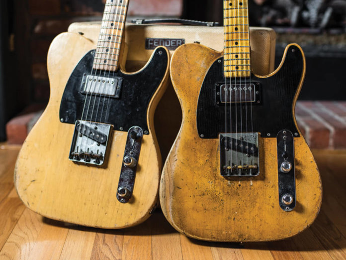 """This vintage #Fender is #JoeBonamassa's """"best"""" #guitar """"It is the most dynamic instrument I have ever played in my life."""" #blues  Joe's 1951 Fender Nocaster (left) & 1952 #Telecaster"""