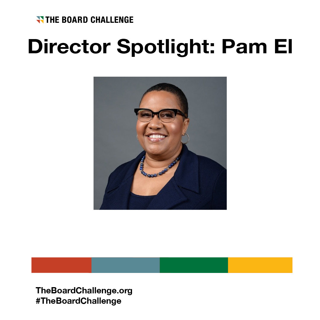 Pam El, the newest board member at @Ranpak_Global, discusses her background as an advertising and marketing exec, the opportunity at Ranpak and her advice for Black professionals seeking board opportunities.