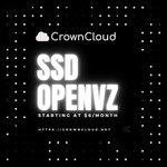 Image for the Tweet beginning: CrownCloud offers OpenVZ based VPSes