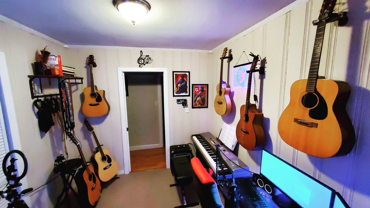 Music room is coming along! Weird how different this space looked just a month ago....  #guitar #music #musician #sixstring #acousticguitar #countrymusic #family #home #goffstown #newhampshire #nh