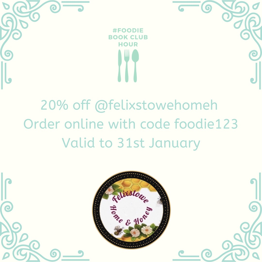 Thank you to this weeks sponsor of #foodiebookclubhour @FelixstowehomeH  Support this #independentbusiness & use code foodie123 to get an amazing 20% discount on everything at the checkout until 31st January.  Pls RT.  #fridaymotivation #fridayfeeling #foodanddrink