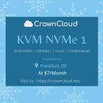 Image for the Tweet beginning: NVMe powered KVM VPS just