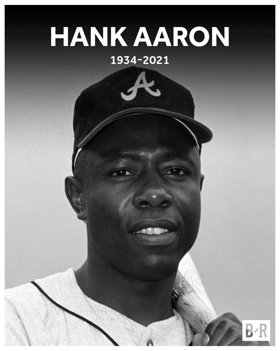 Replying to @BleacherReport: Atlanta Braves legend and Hall of Famer Hank Aaron has died at the age of 86