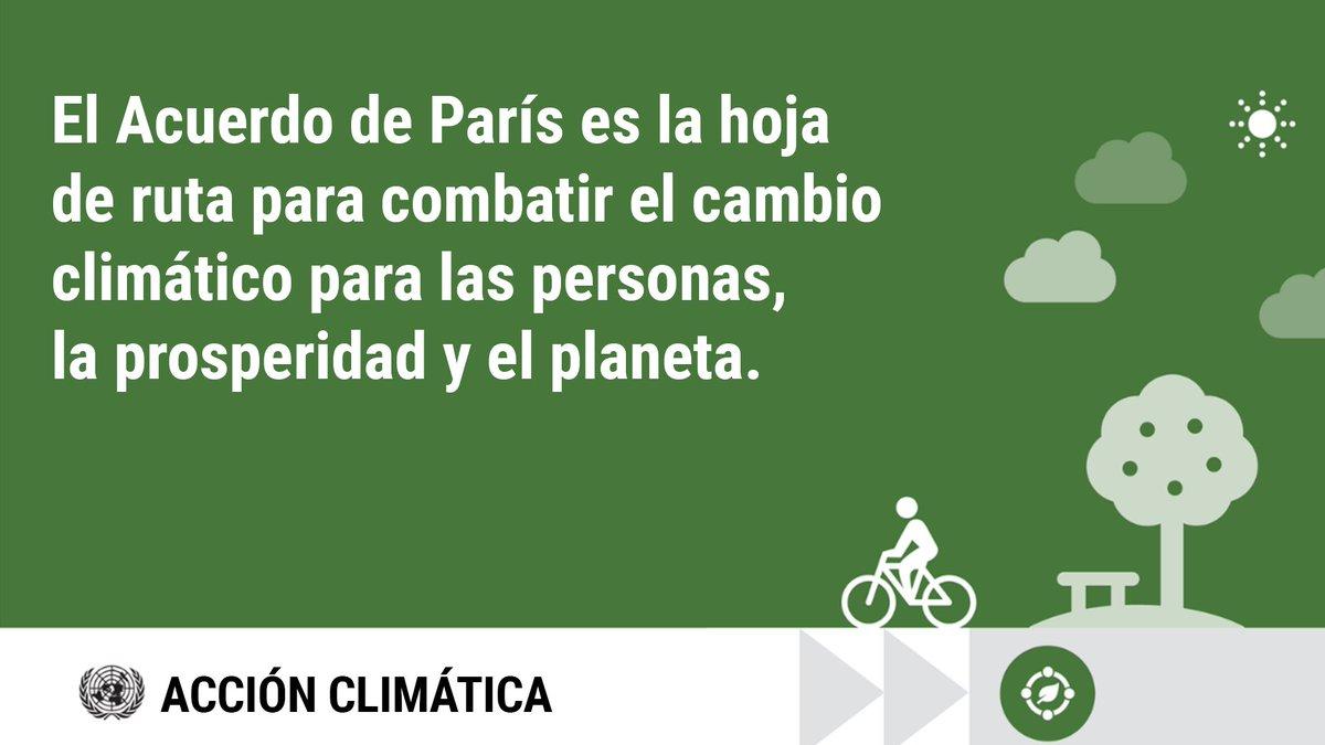 El #AcuerdoDeParís es la hoja de ruta para superar la emergencia climática y proteger a las personas y el planeta.  La recuperación de la pandemia debe incluir trabajar por un mundo más respetuoso con el medio amiente.