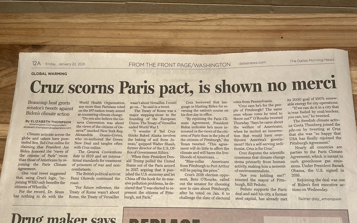 Newspaper headline of the month nominee today in the @dallasnews.  (h/t @dave_in_sa) https://t.co/biMlScwluV