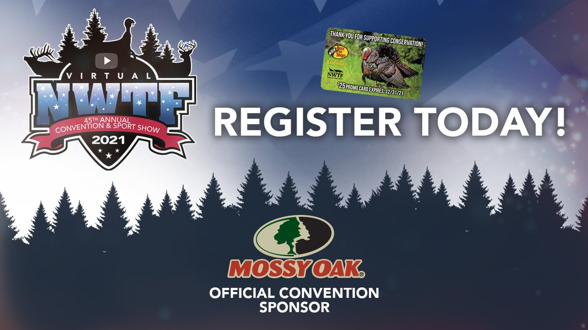 Join us for our 45th Annual Convention and Sport Show hosted from Johnny Morris' Wonders of Wildlife National Museum and Aquarium. Access is FREE with your current NWTF membership. Not a member? Join or renew and receive a $25 @BassProShops Promo card.