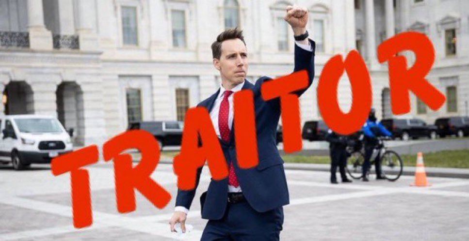 Guess who voted *today* AGAINST the first BLACK Secretary of Defense in history?  If you guessed Josh @HawleyMO, the same racist MF who incited the domestic terrorist attack on The Capitol that killed a POLICE OFFICER you guessed right.  Josh Hawley.  STILL in the U.S. Senate!! https://t.co/XpMVFILGWC