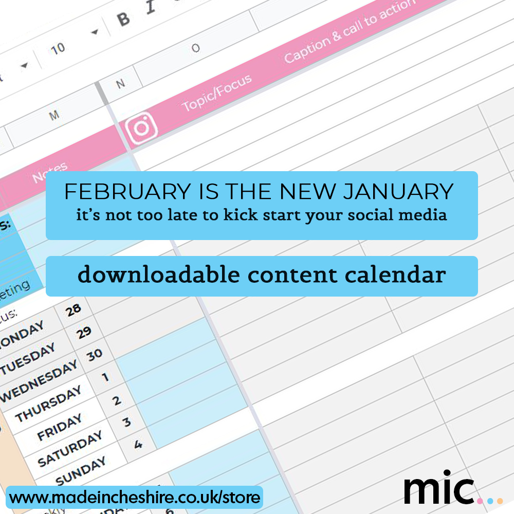It's not too late to get your social media planning organised for 2021. Clients love our downloadable social media planner - download it today from   #socialmedia #contentplanner #socialmediamanagement #training #Manchester #Altrincham