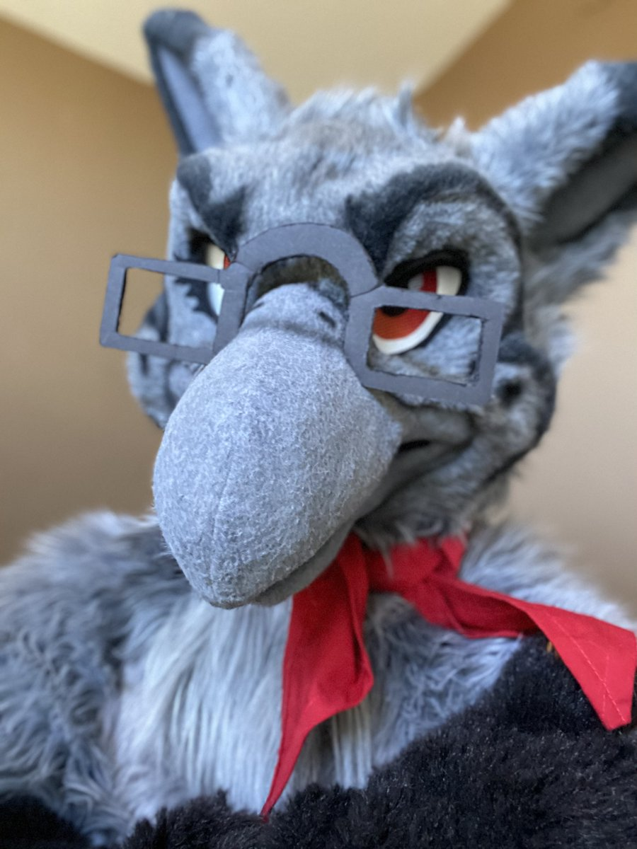 *judges you in birb* hey you, have a good #FursuitFriday and a good weekend or else…Now if you'll excuse me, Im gonna go fix these glasses…..I knew I should've bought a bigger pair >.<   ✂️ @MadeFurYou