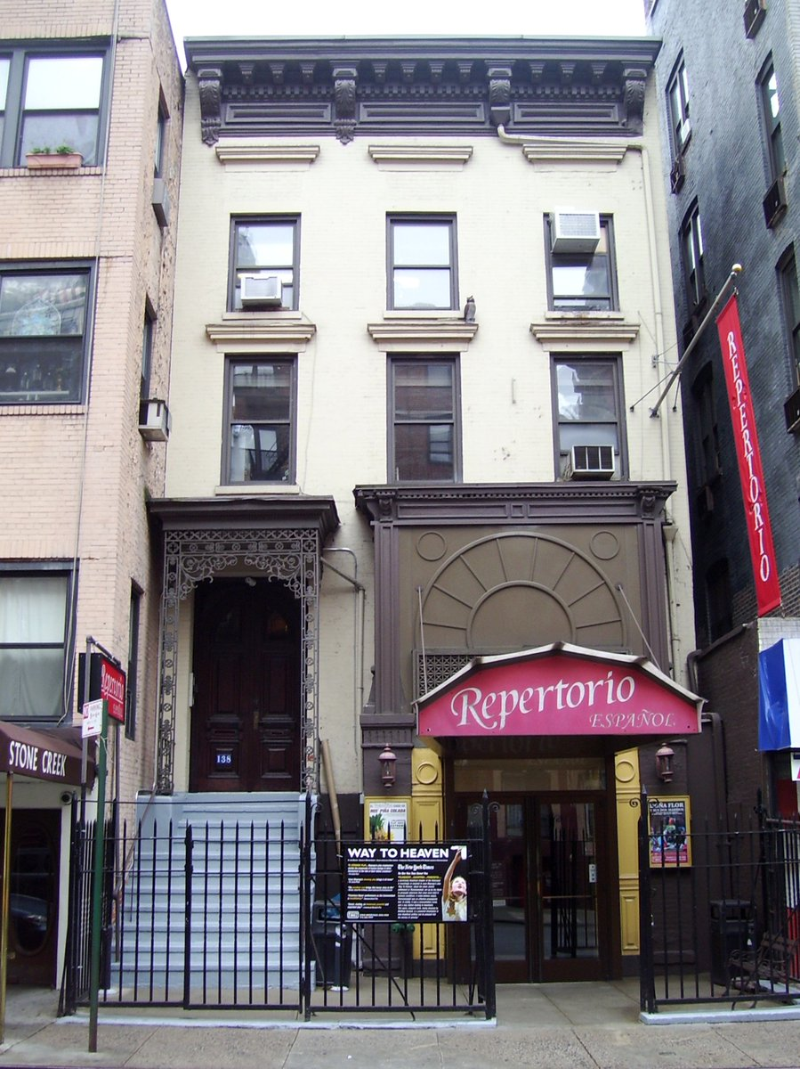 #DYK that the former Village Presbyterian Church on 13th St was also the birthplace of @repertorionyc, a theatre troupe dedicated to producing Spanish-language productions? Today we explore the history of the group and its founder Gilberto Zaldívar.