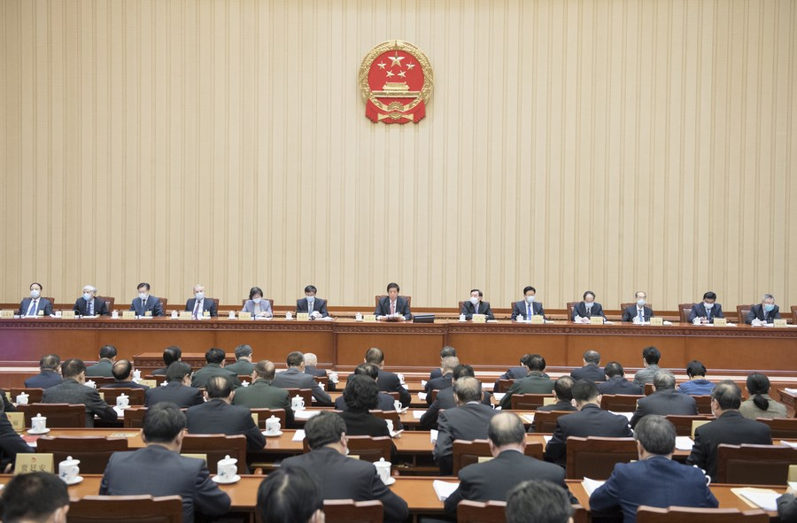 China's top legislature concludes standing committee session