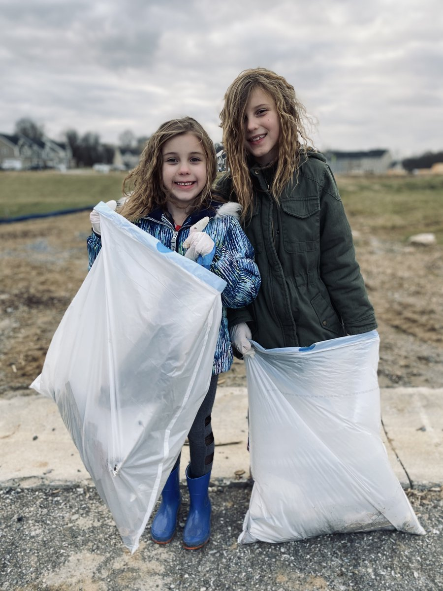 Forward Together | On Martin Luther King, Jr. Day, Annabelle (1st) &Sophia (3rd) Neeld spent their day cleaningup trash. What a difference they are making in their community..  #agcharter#forwardtogether#MLKDay