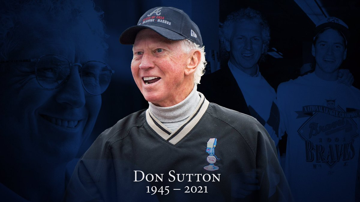 ⚾️⚾️  Two @Braves legends die in one week, #DonSutton and #HankAaron. I met Hank once when I was little, he was a class act, signed a baseball for me & talked to my dad for 30 minutes! Been a Braves fan every since I could walk. RIP guys! #ForTheA