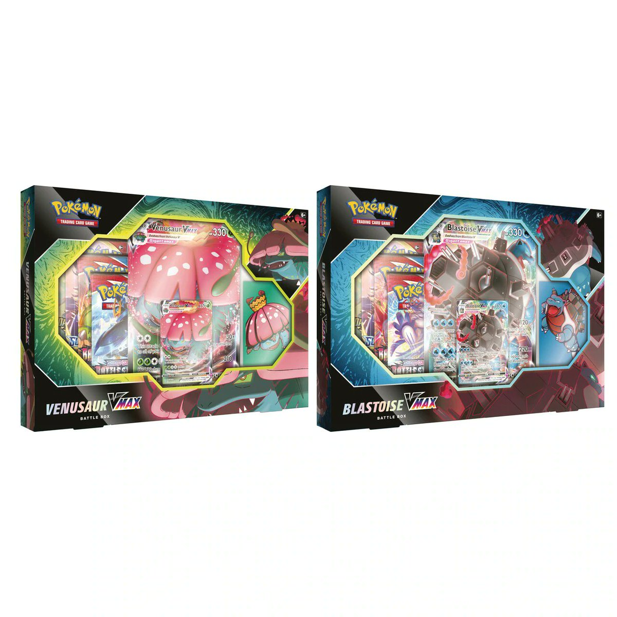 Pokemon - Venusaur and Blastoise VMAX battle box preorders available at Gamenerdz w/ 20% off, $39.97 for both (MSRP $50)    #pokemon #pokemontcg #pokemongo #pokemoncards #ptcgo #pokemonswordshield #vmax #venusaur #blastoise #battlestyles #tcgdeals #tcg