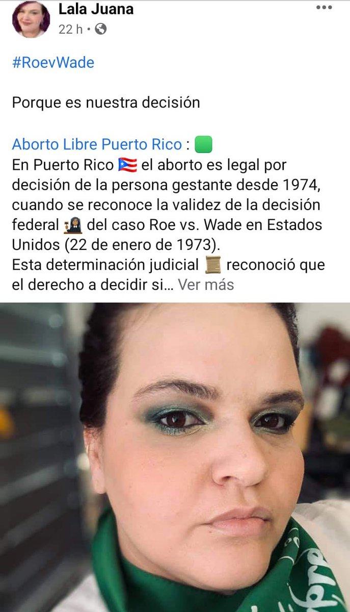 #RoevWade #PuertoRico #AbortoLibreSeguroAccesible💚 #pañuelazoroevwade💜 #legalnoessuficiente #iglesiayestadoasuntosseparados 🧡 #LalaJuana