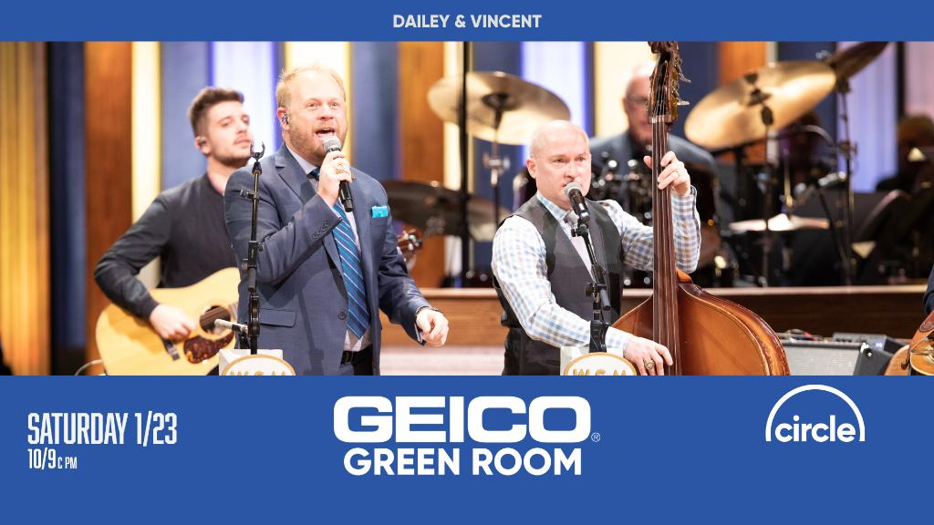 Join our friends at @CircleAllAccess and @GEICO for the #GeicoGreemRoom tomorrow after the Saturday Night Grand Ole Opry Show!   Tune in at  to see @DaileyVincent this week!