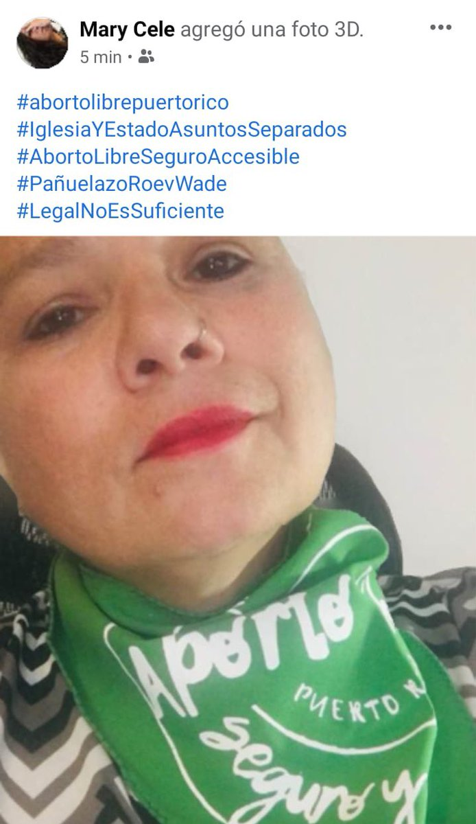 #RoevWade #PuertoRico #AbortoLibreSeguroAccesible💚 #pañuelazoroevwade💜 #legalnoessuficiente #iglesiayestadoasuntosseparados 🧡 #MariCele 💚