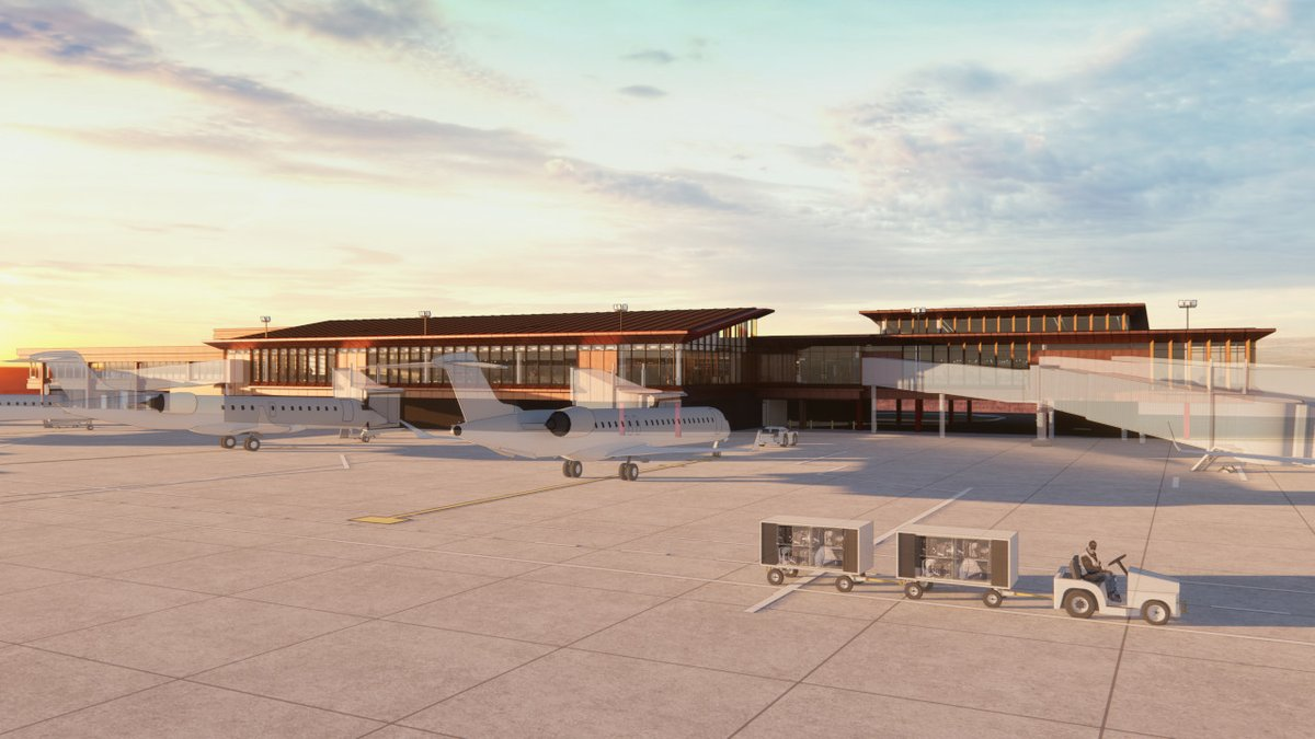 We made it another week! Check out one of our new renderings of the LNK NEXT project airside view. To see more renderings visit .   #LNKNEXT #FlyLNK #FlyLocal #TGIF