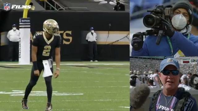 Our guys saw that @Saints trickery coming 👀💪🎥  Shot:                                           Shooter: