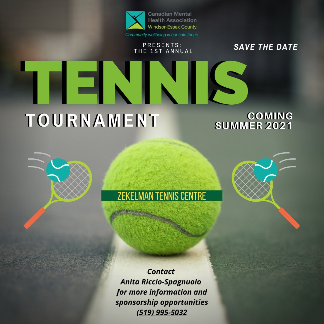 test Twitter Media - Calling ALL Tennnis Players!   SAVE THE DATE for our Inaugural Tennis Tournament @StClairCollege Zekelmean Tennis Centre - Summer 2021!  Details coming soon!  #tennis #ace #love #tournament #mentalhealth https://t.co/4miDC7TbJT